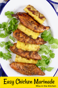 Marinated chicken grilled with pineapple