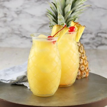 Pineapple Fuzzy Navel Cocktails