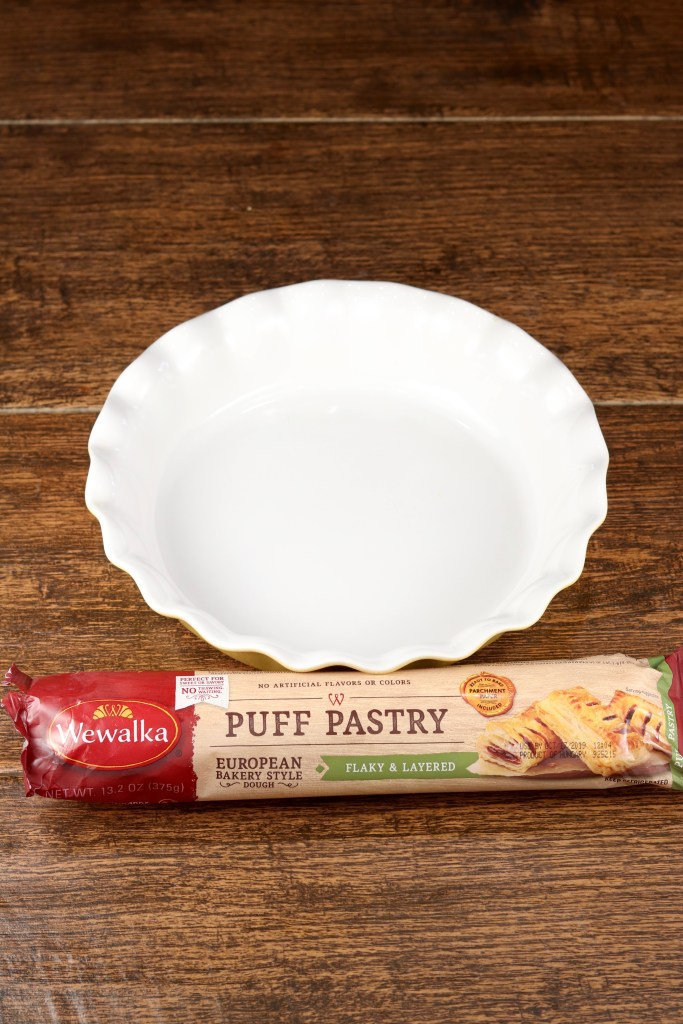 Wewalka Puff Pastry and a pie dish