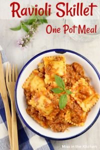 One Pot Ravioli Skillet Meal