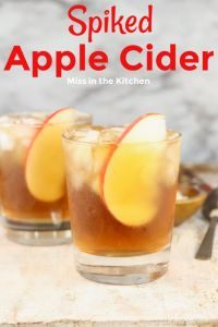 Apple Cider spiked with rum