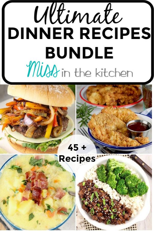 Ultimate Dinner Recipes Bundle of eCookbooks