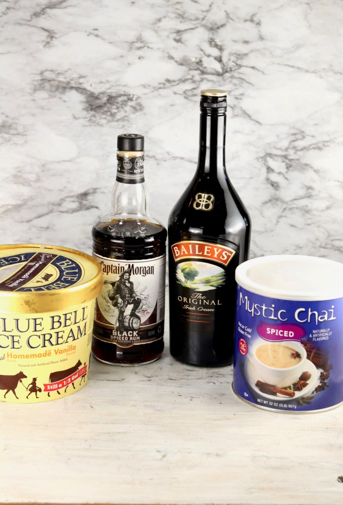 Ingredients for Baileys Irish Cream Chai Float