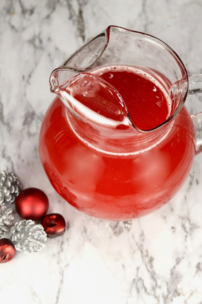 Holiday Party Punch in a pitcher