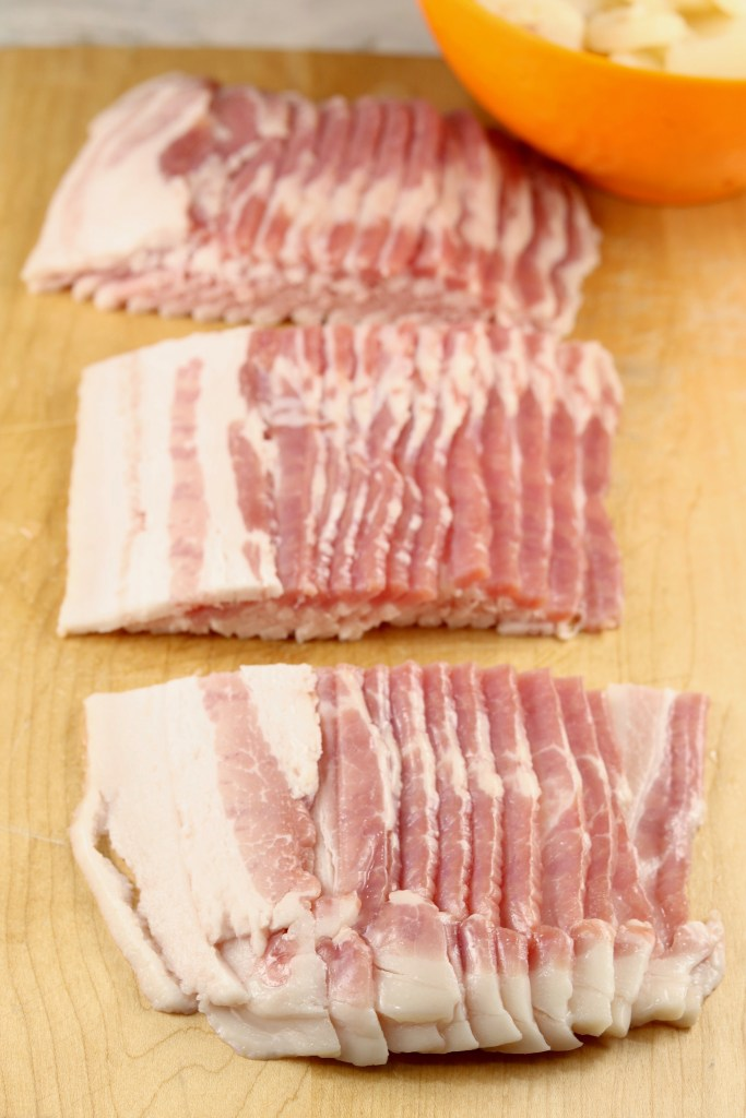 Sliced Bacon for appetizers
