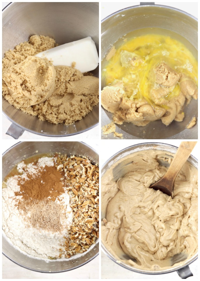 Baking spice cake - step by step of batter