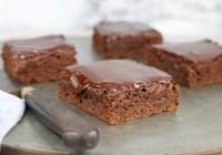 Chocolate Glazed Brownie Slices