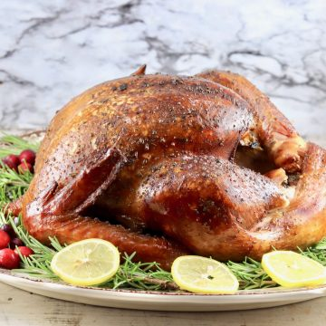Easy Smoked Turkey on a platter
