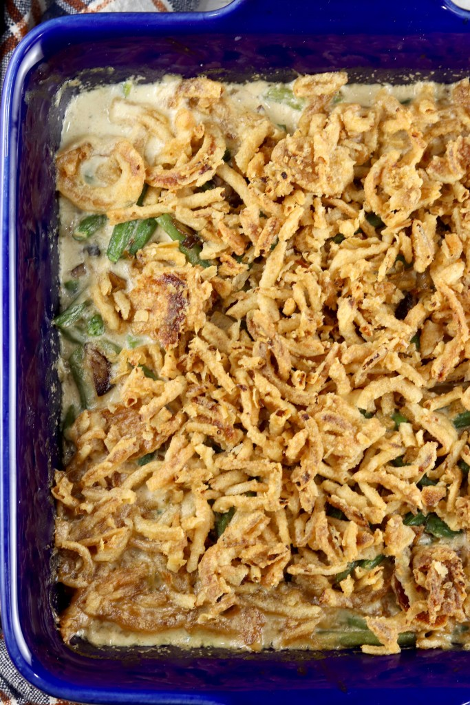 Green Bean Casserole with French fried onions
