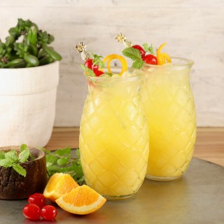 Pineapple cocktail on a tray