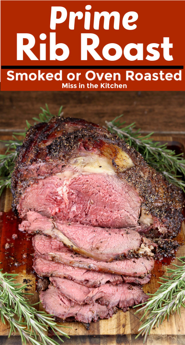 Prime Rib Roast with text overlay
