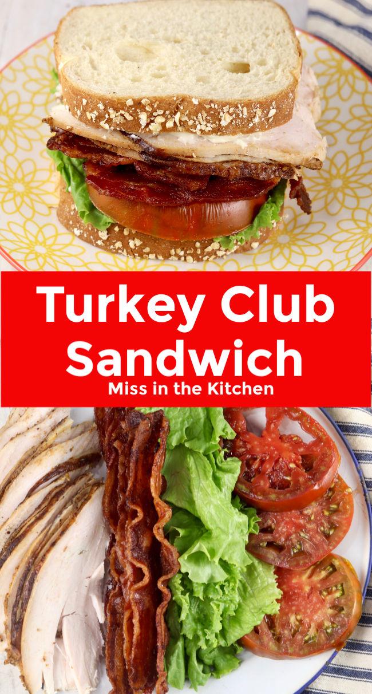 Turkey Club Sandwich collage