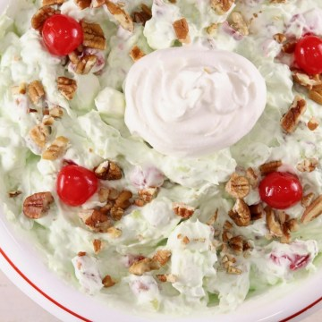 Watergate Salad with cherries and pecans