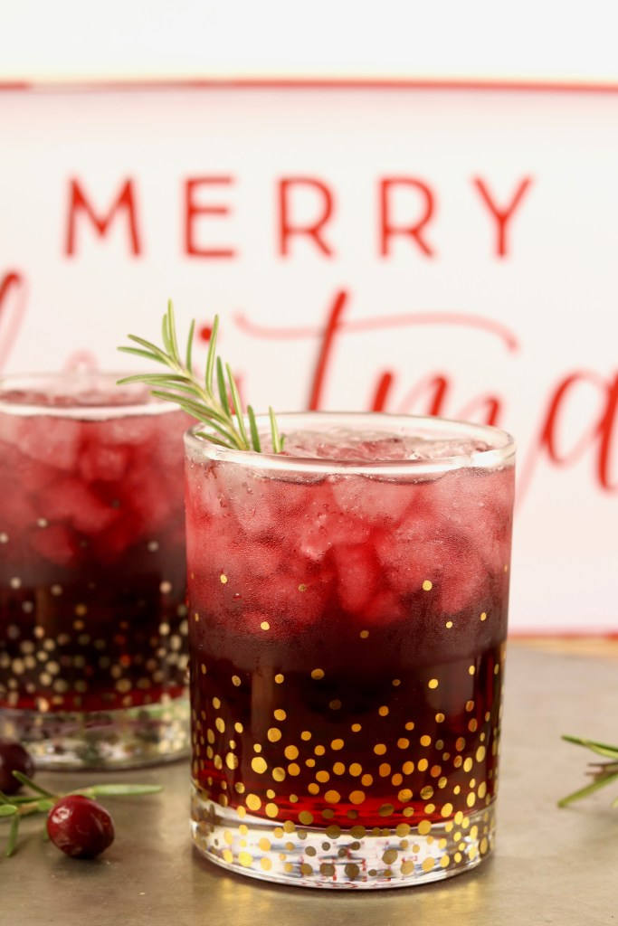 Holiday wine cocktail