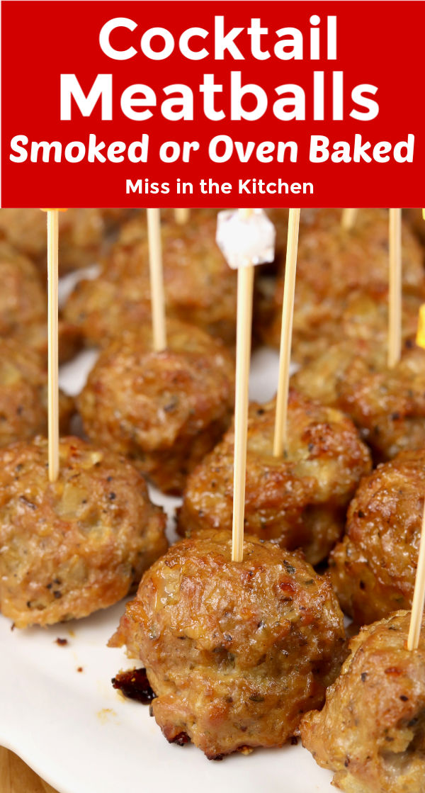 Text overlay with Cocktail Meatballs