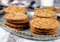 Molasses Cookies on a tray