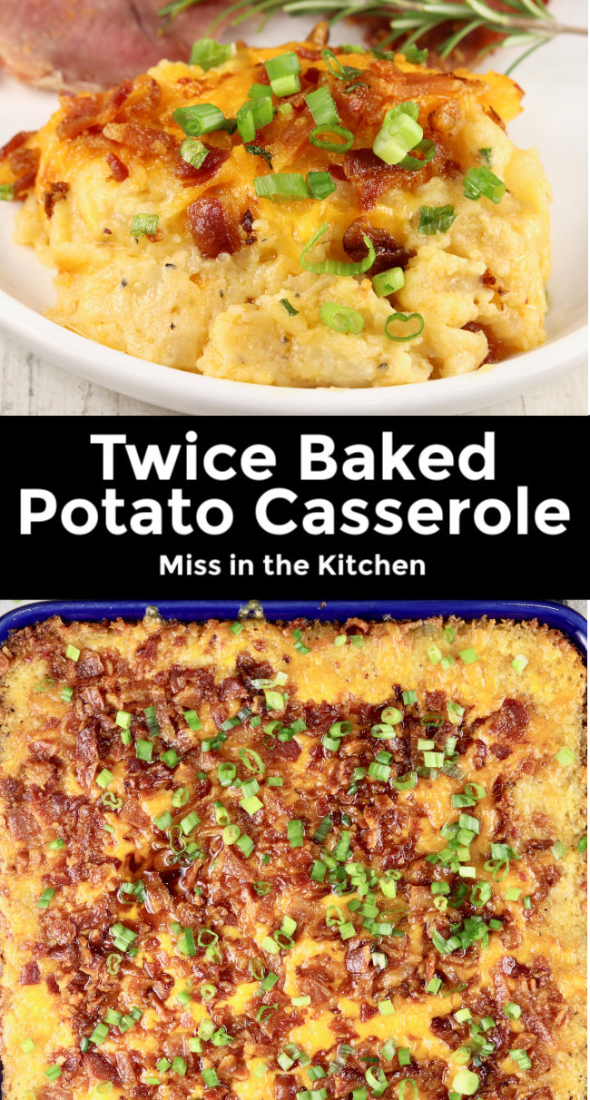 Twice Baked Potato Casserole Collage