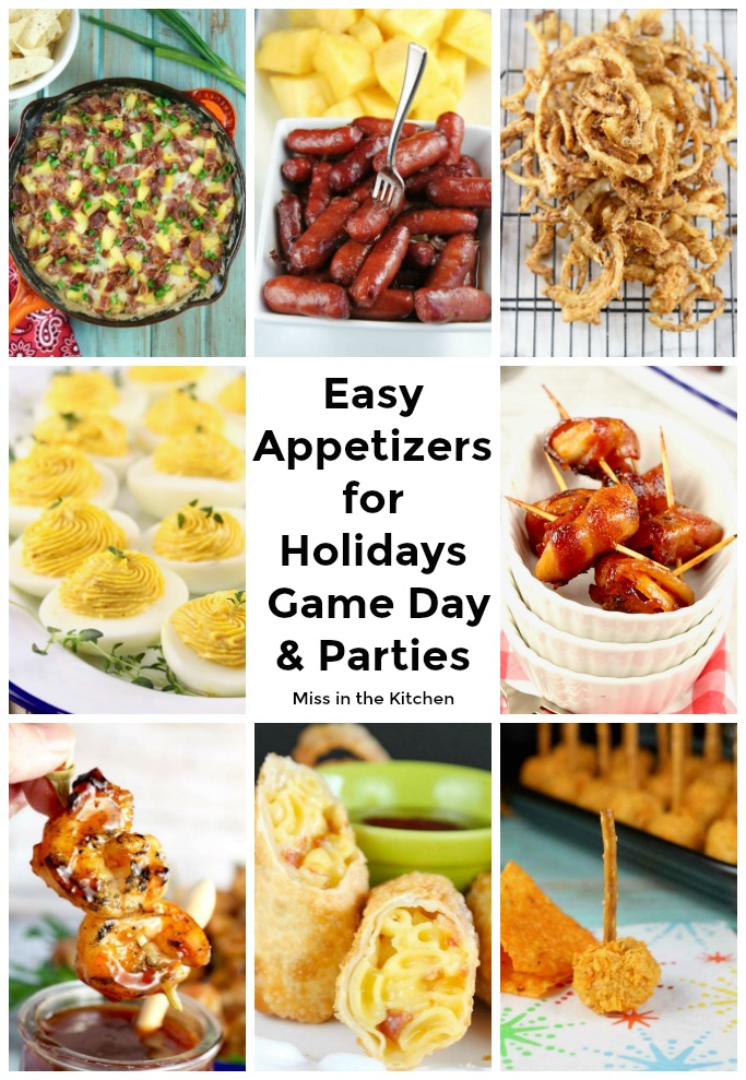 collage of appetizers for parties