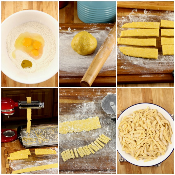 step by step how to make homemade noodles