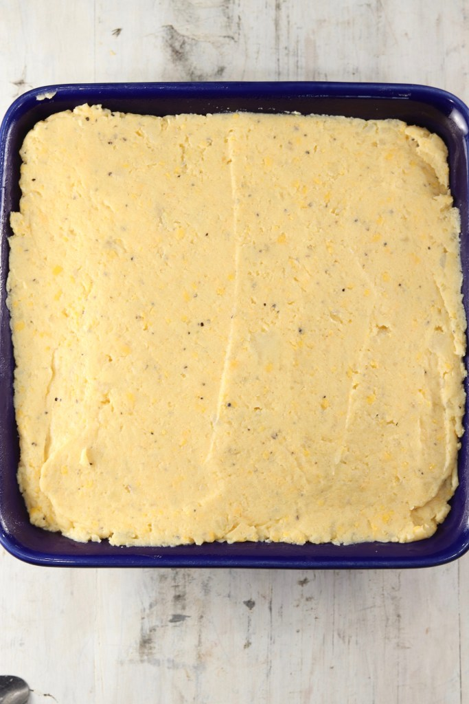 Baked Potato Casserole ready to bake