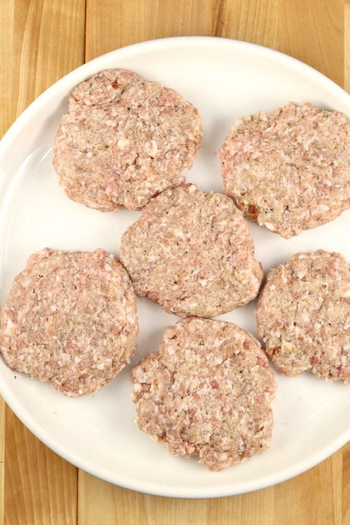 pork sausage patties on a plate