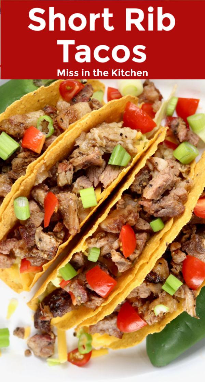 text overlay short rib tacos