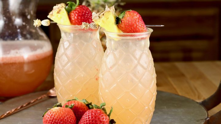 Strawberry Pineapple Wine Punch