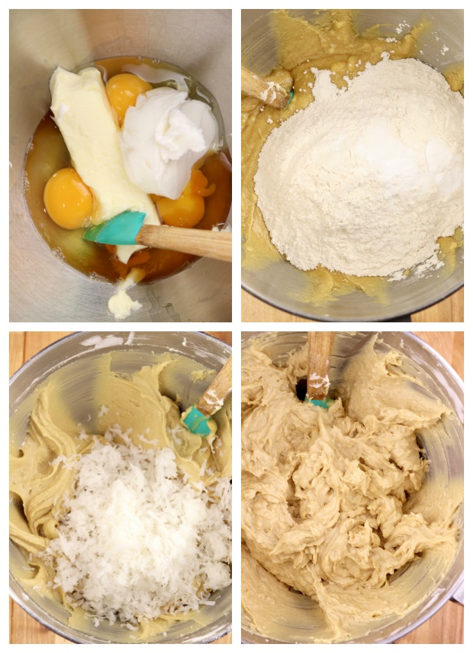 step by step photos - how to make coconut pound cake