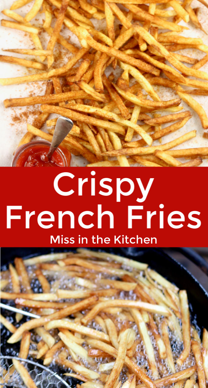Frying French Fries in oil