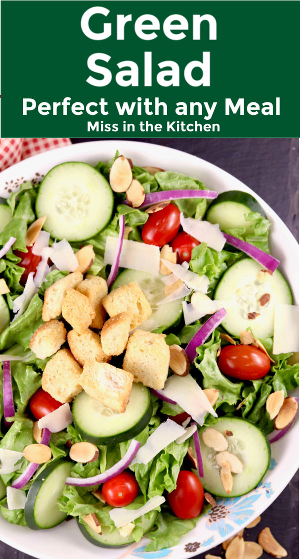 Green Salad with tomatoes and cucumbers