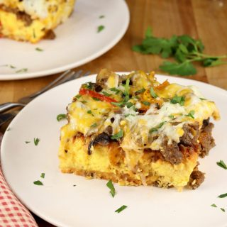 Breakfast Egg and Pizza Casserole