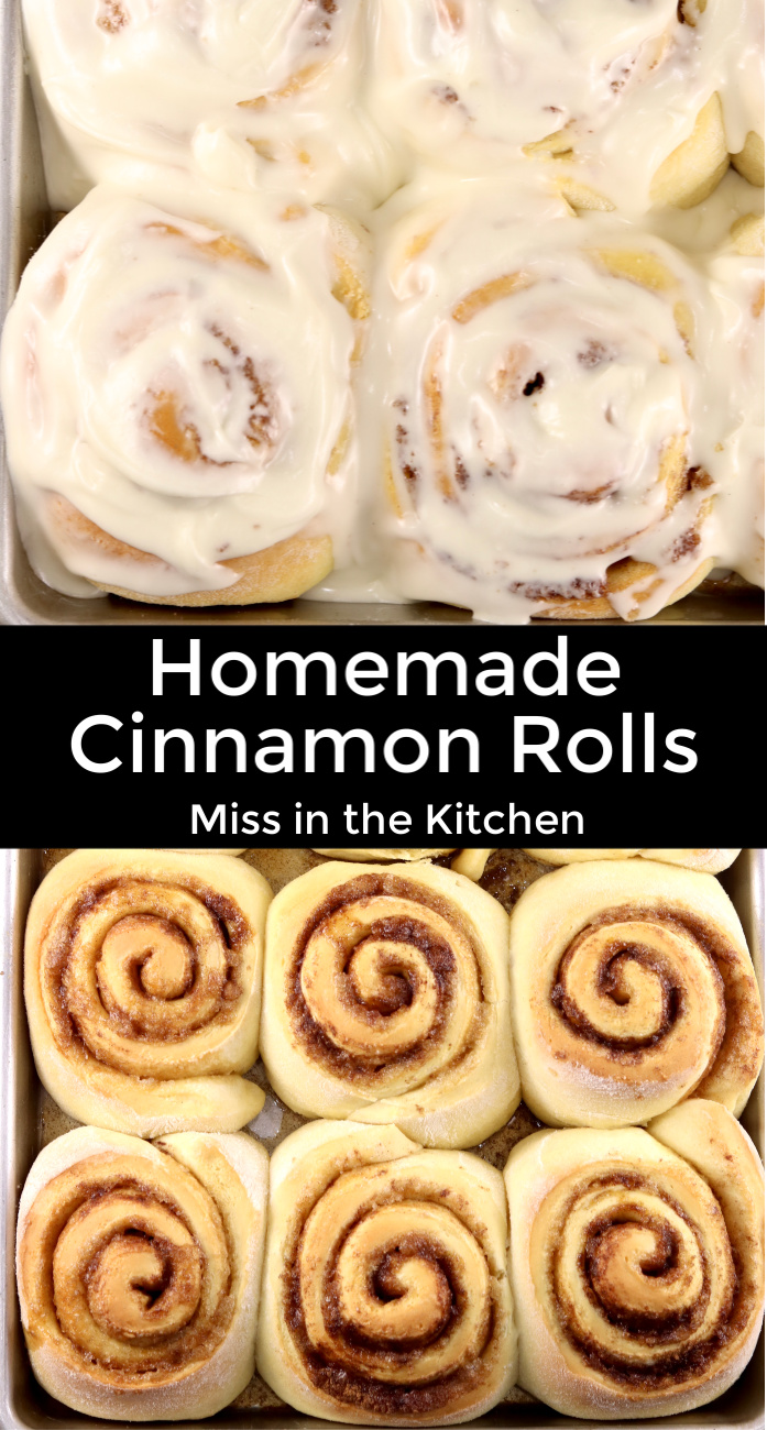 Homemade Cinnamon Roll Collage