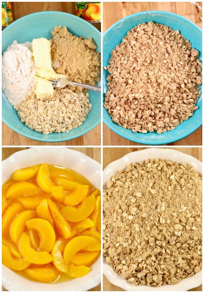 Peach Crisp step by step recipe photos