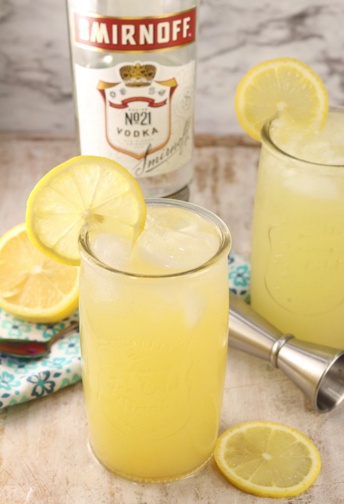 Pineapple Lemonade spiked with vodka