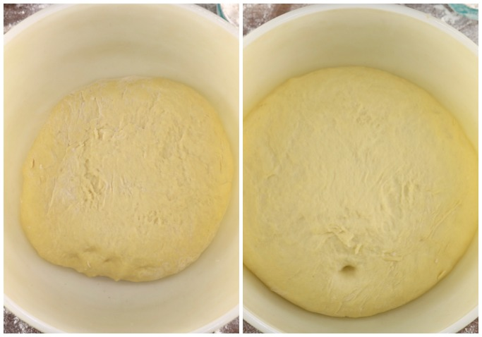 rising yeast dough in a bowl