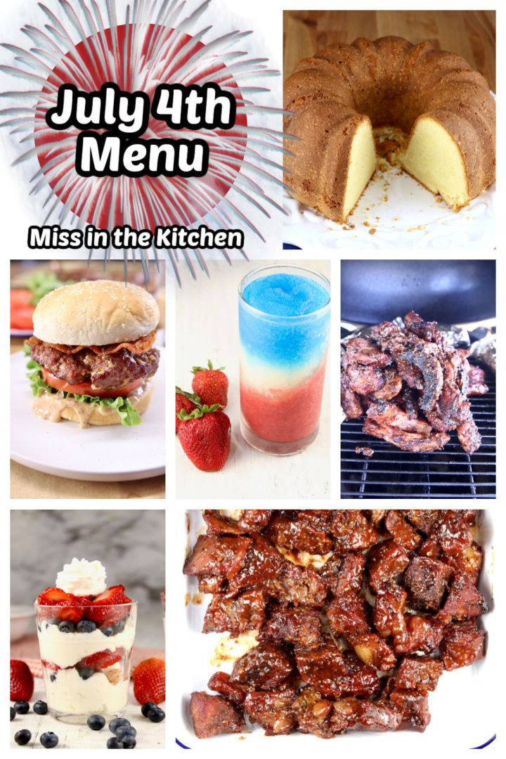 4th of July Menu photo collage