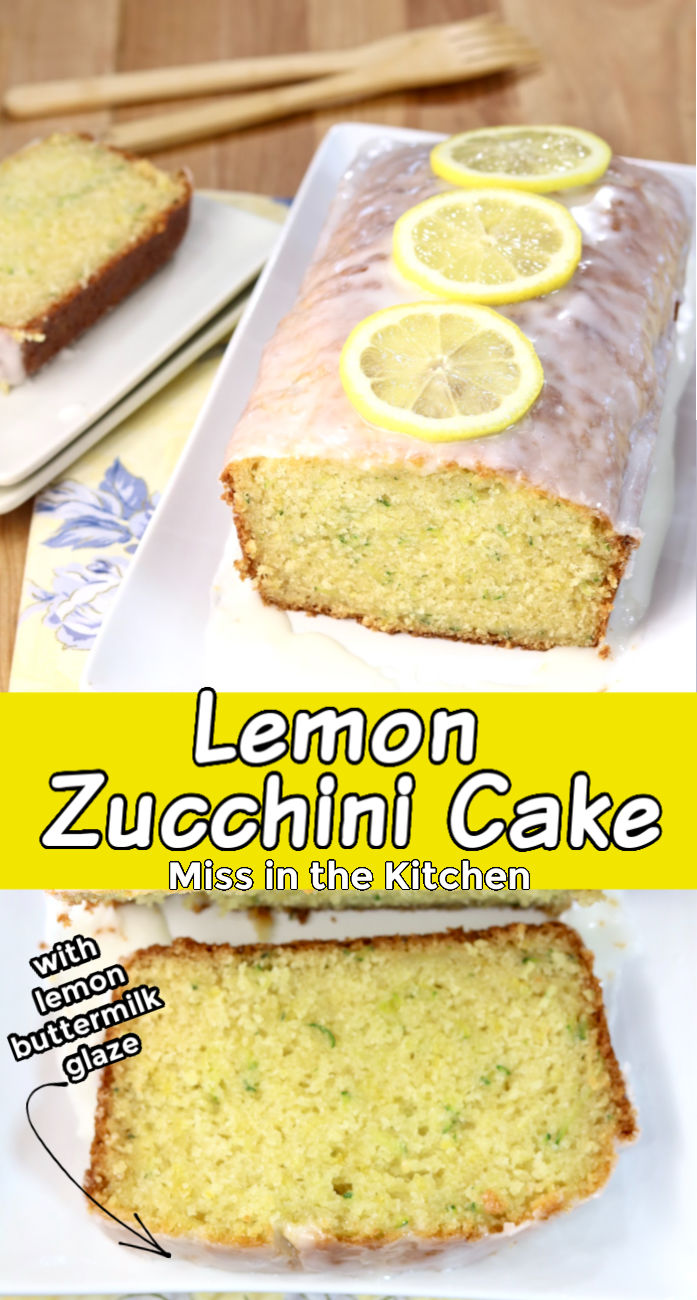 Lemon Zucchini Cake collage