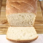 Amish White Bread, loaf with end sliced