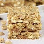 Caramel White Chocolate Macadamia Nut Bars