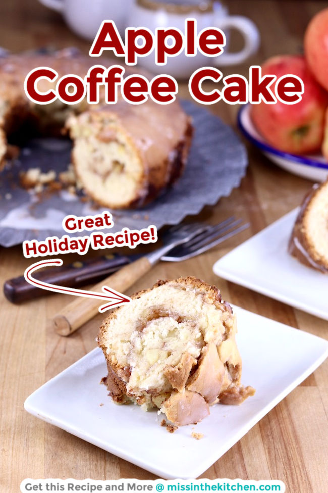 Apple Coffee Cake with text overlay