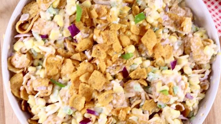 Frito Corn Salad in a bowl