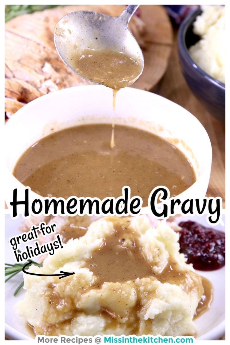 Homemade Gravy collage