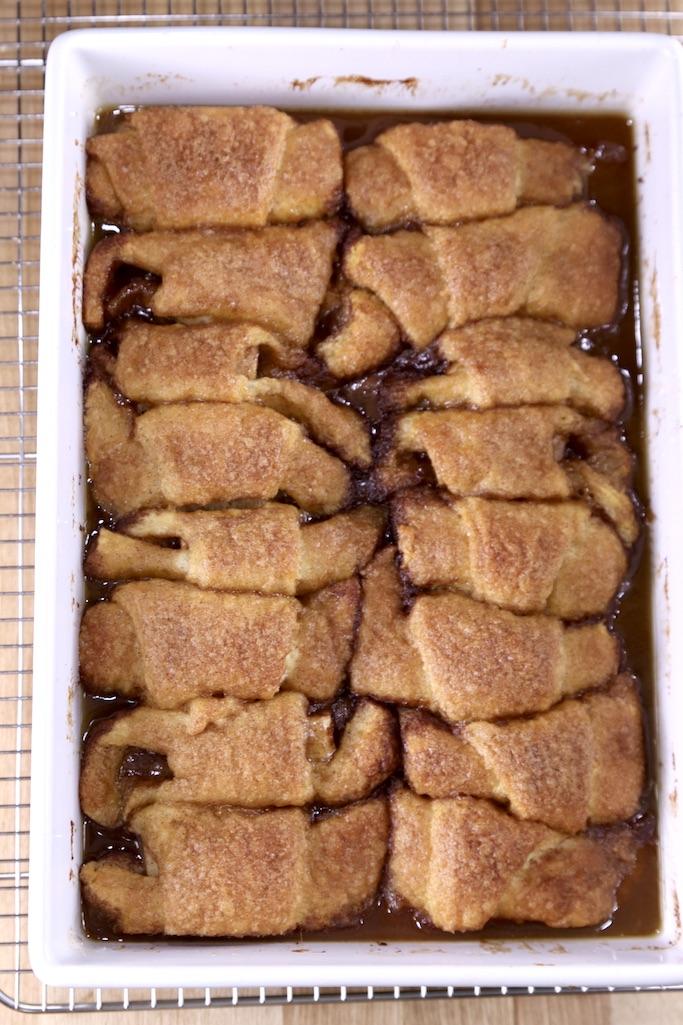 baked crescent apple cinnamon dumplings