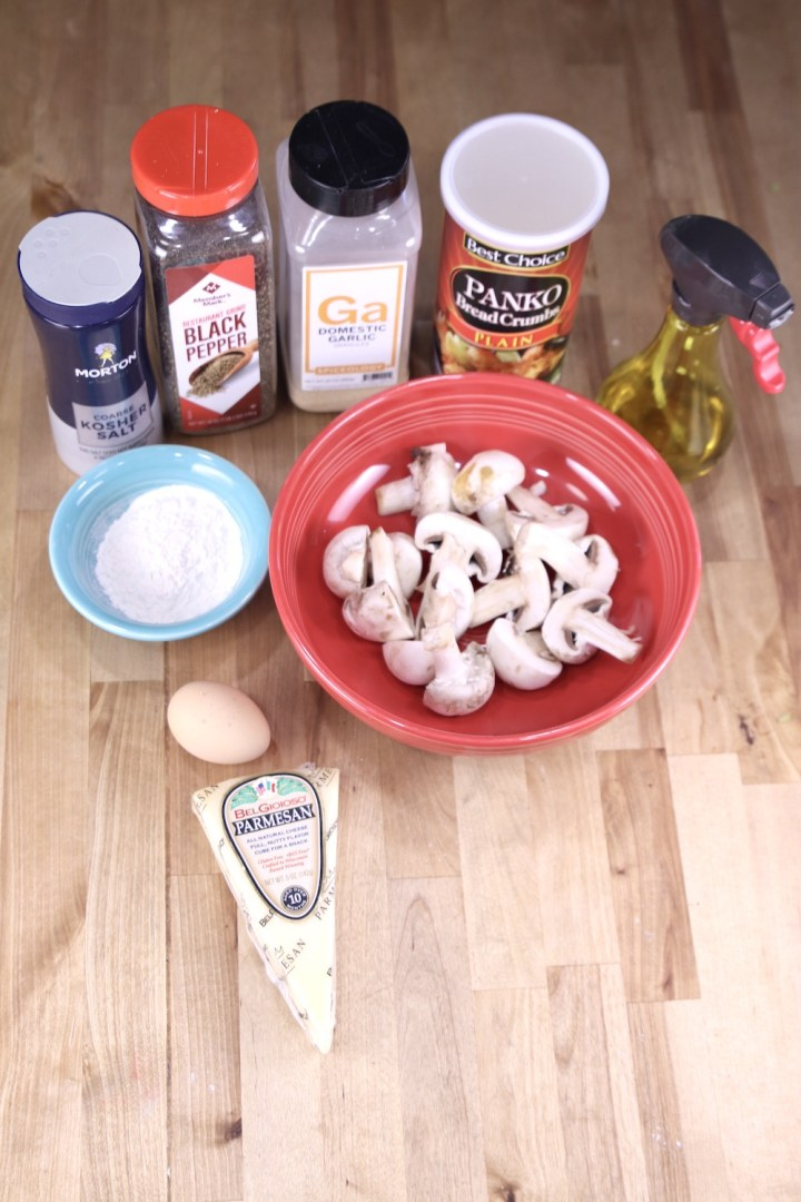 air fryer mushrooms ingredients