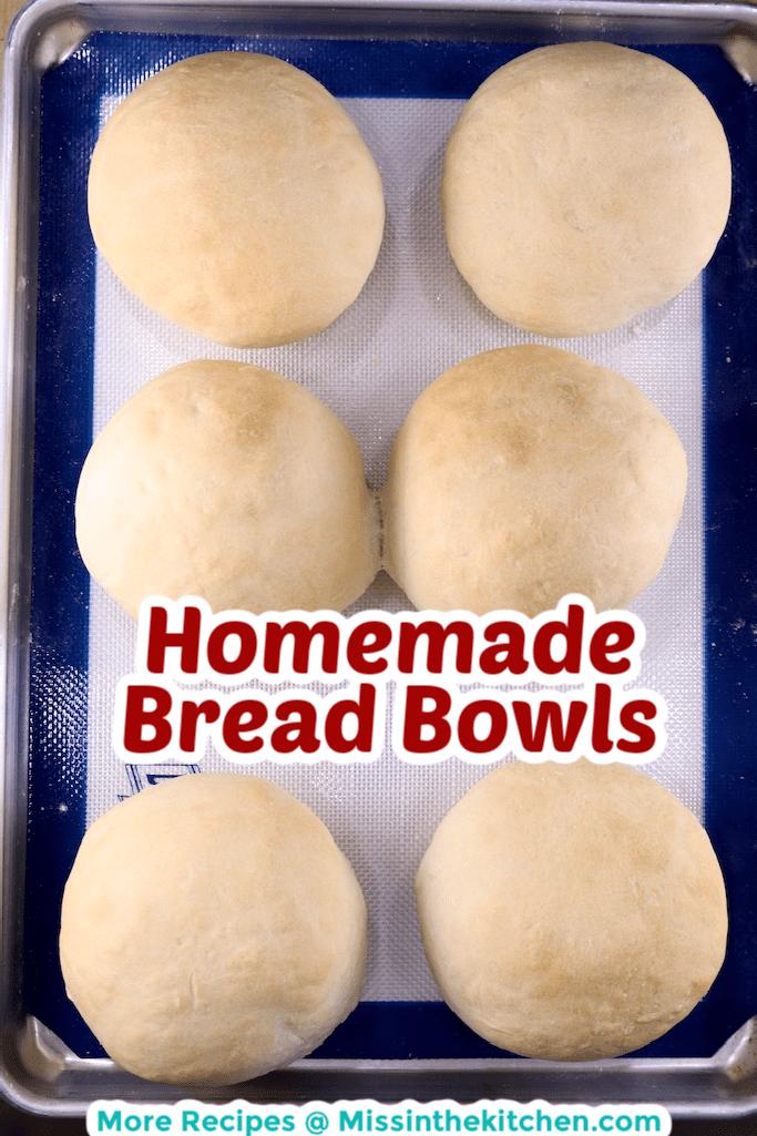 Sheet pan with homemade bread bowls