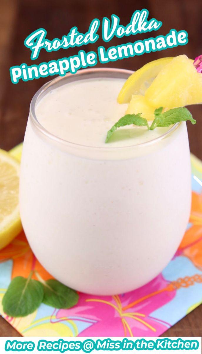 Frosted Vanilla Pineapple Lemonade