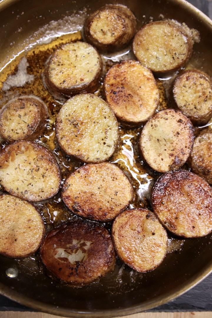 Golden Brown Butter Fried Potatoes