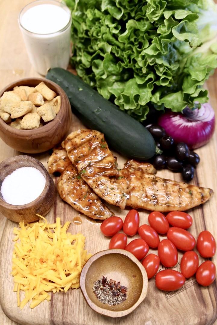ingredients for bbq chicken salad