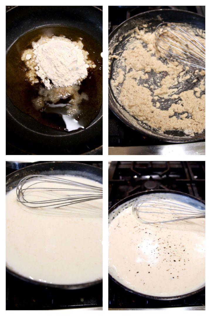 making milk gravy collage