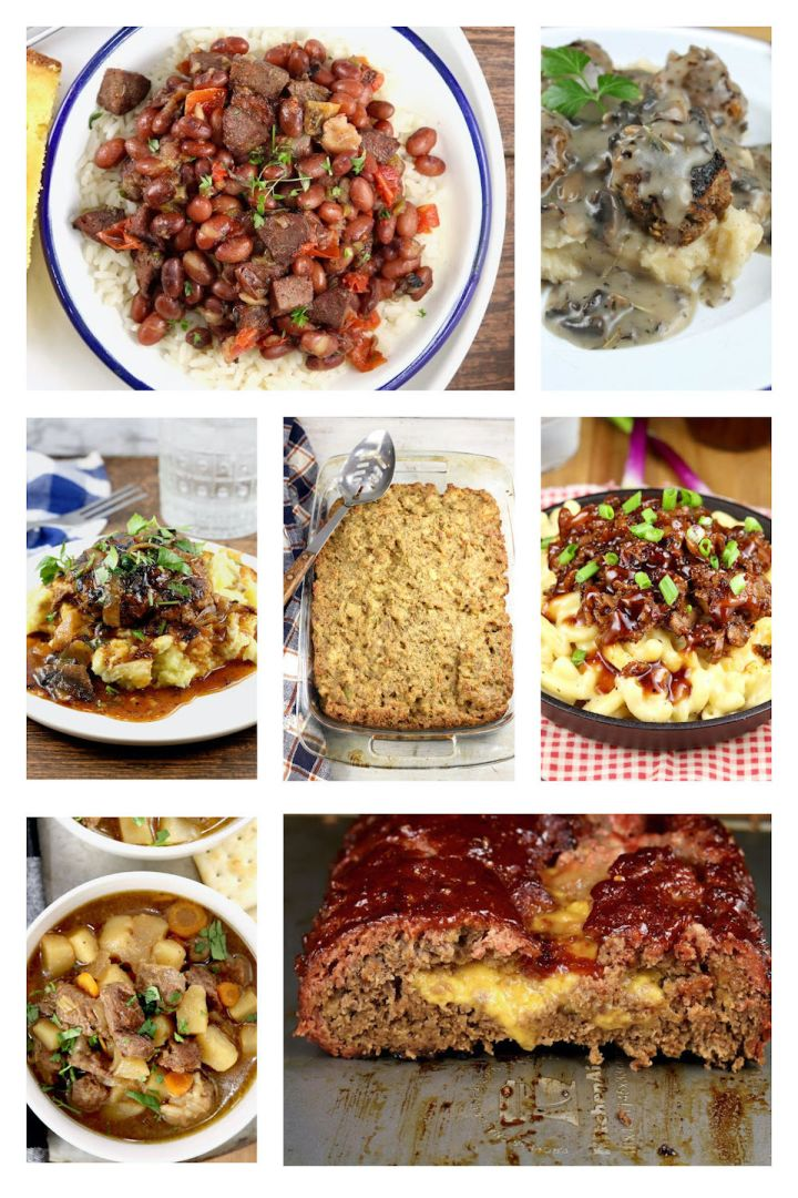 collage of comfort food recipes